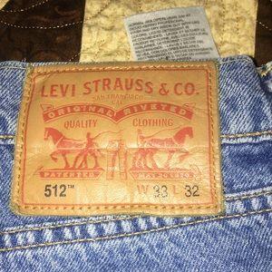 Levi's 512 slim taper jeans 33x32